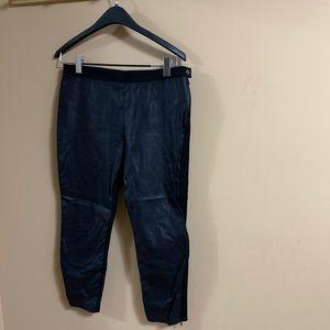 Banana Republic Black Vegan Leather Sloan Pants